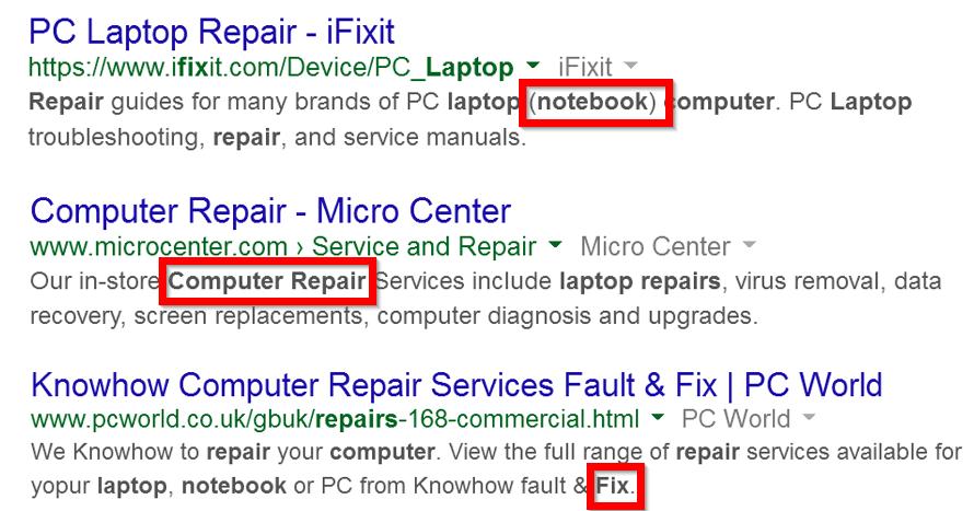 страницы по запросу «ремонт компьютеров»