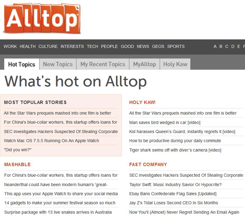 каталог блогов AllTop.com