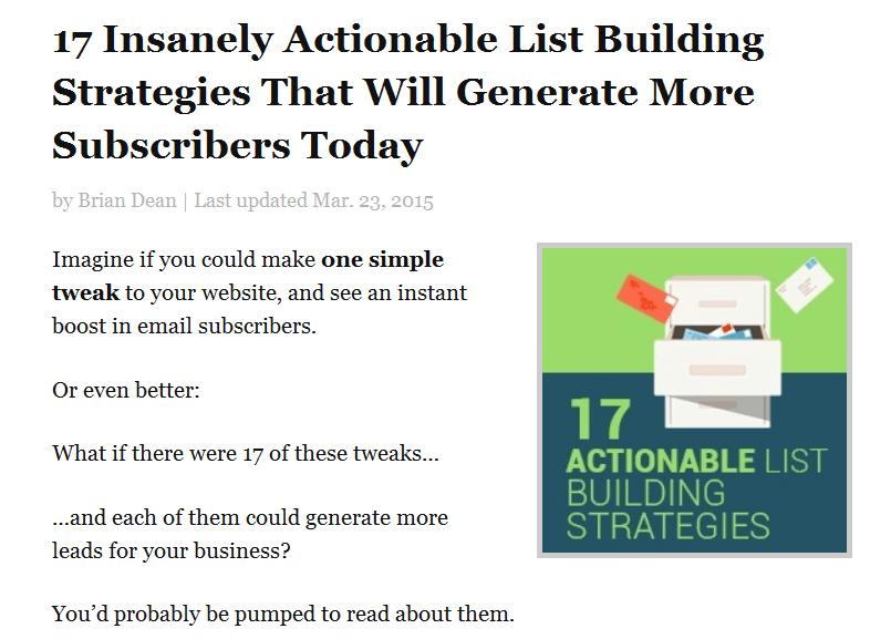 пост «17 безумно действенных стратегий, которые приведут больше подписчиков на сайт уже сегодня»