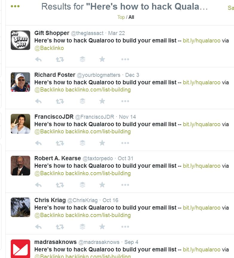 большая часть твитов с помощью кнопки твитнуть