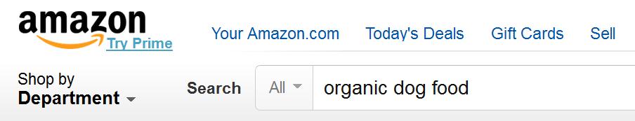 поиск Amazon