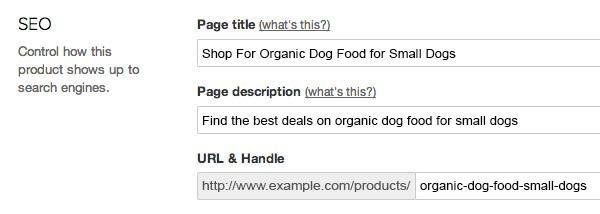вставьте эти ключевые слова на страницу с продуктами