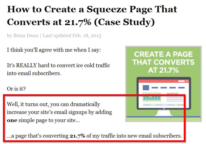 пример из поста о создании сжатой страницы в социальной сети
