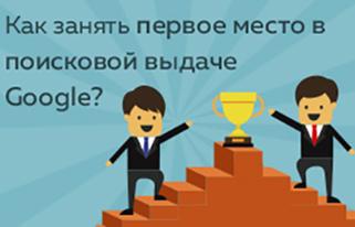Как занять первое место в поисковой выдаче  Google?