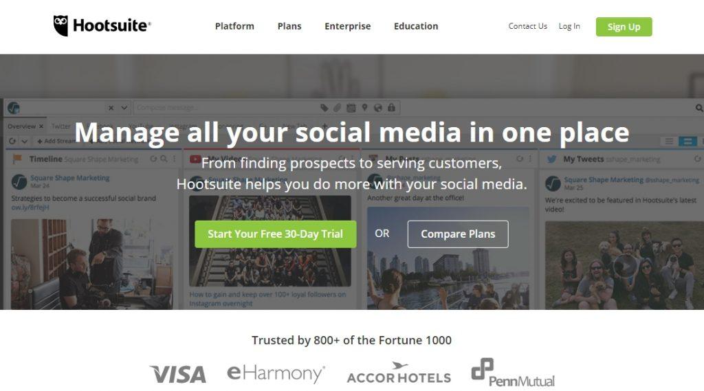 Hootsuite для мониторинга конкурентов