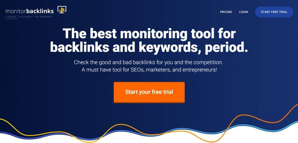 Monitor Backlinks для анализа ссылок