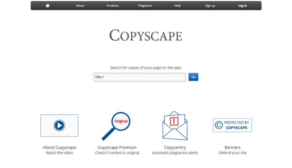 Copyscape для анализа контента на сайте