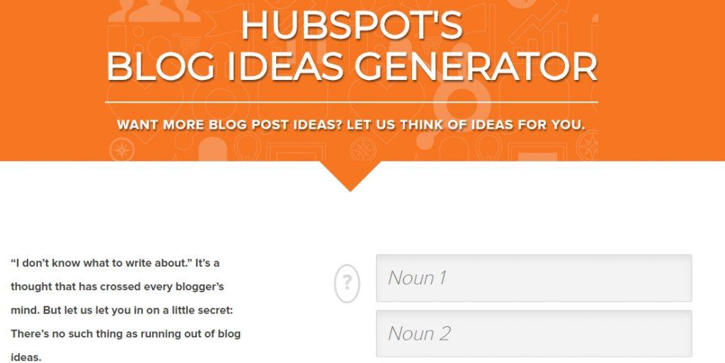 HubSpots Blog Ideas Generator