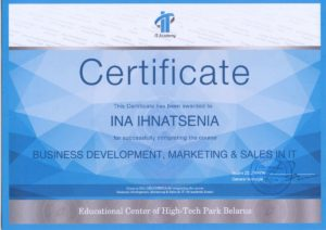 Marketing and Sales in IT