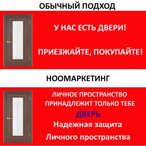 реклама дверей: ноомаркетинг 2