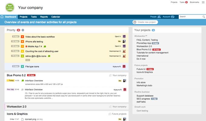 Сервисы для управления проектами Worksection