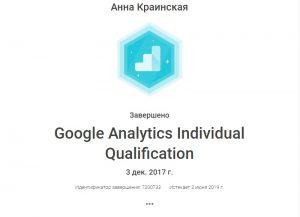 Сертификат GA